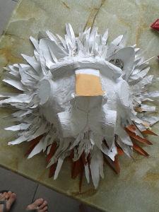 Tête de lion blanche