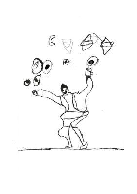 Artiste jongleur de cirque