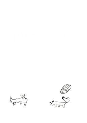 Chien qui jongle avec son museau