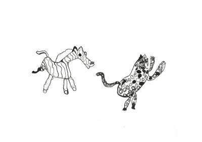 Un zèbre et une panthère
