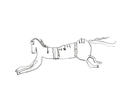 Dessin de cheval dans un cirque