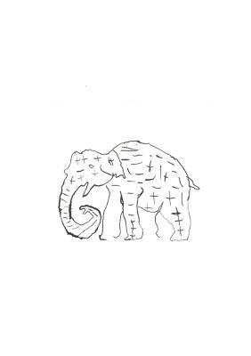 Un éléphant dans un cirque