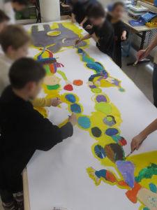 Travail collectif à l'école