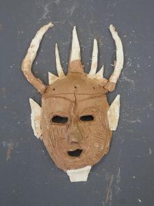 Masque avec des cornes