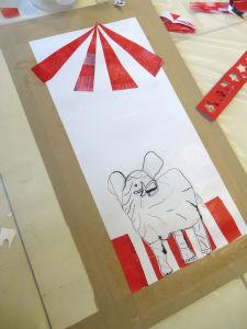 Colage sur le thème du cirque