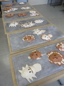Emplacement des masques en céramique