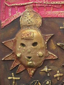 A la manière d'un masque africain