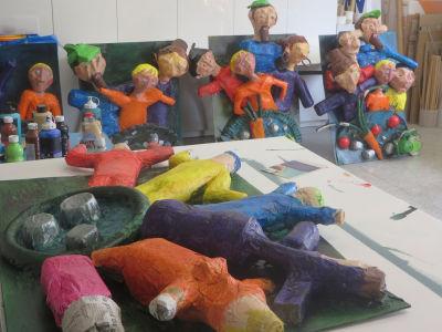L'atelier avec les personnages de la Soupe aux cailloux