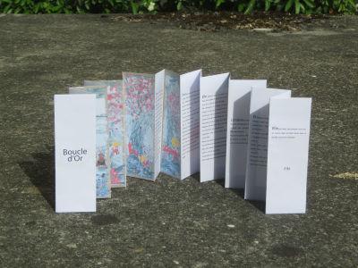 Livre accordéon à partir des collages d'enfants
