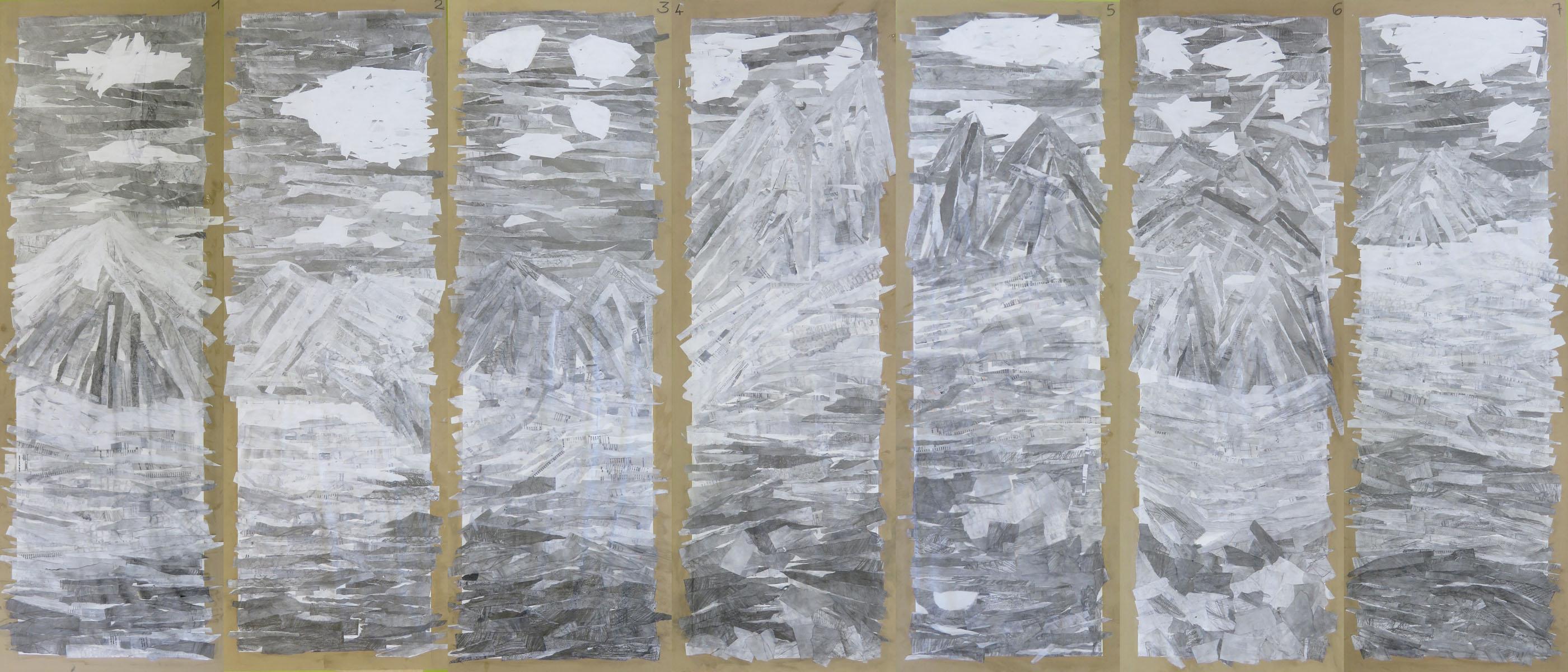 Paysage en camaïeu de gris