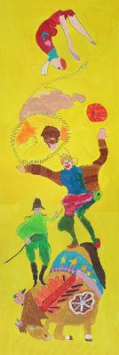 Décor coloré sur le cirque