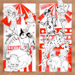 Collages sur le thème du cirque