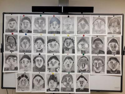 Portraits des enfants de la classe de CE1