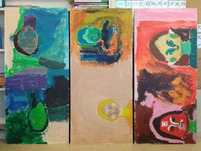 Peindre des portraits avec les enfants