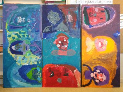Peintures réalisées par les enfants