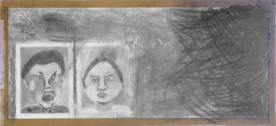 Collage réunissant deux portraits