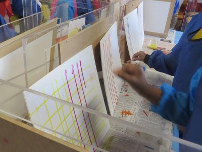 Créer une trame avec des lignes à l'encre