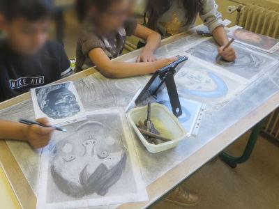 Travail collectif autour du portrait