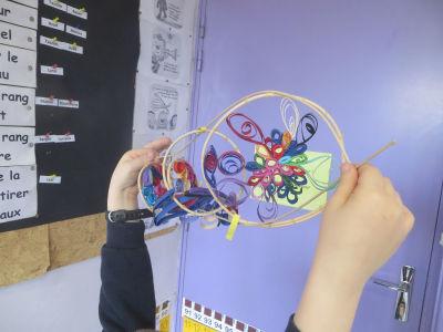 IMG_7127Rotin et décor de papier à l'école