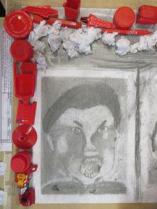 Colère et objets rouges