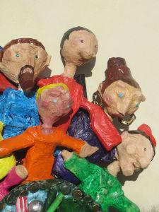 Les enfants ont créé une oeuvre collective