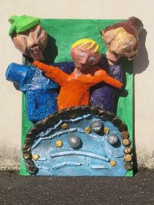Sculpture réalisée dans le cadre scolaire