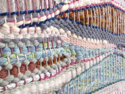 Tissage de laine variée