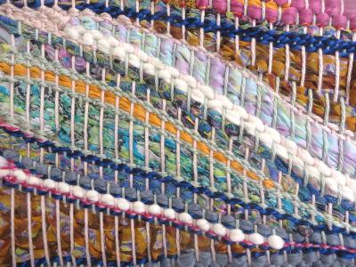 Tissage de laine et soie