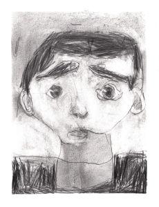 Portrait d'un enfant triste