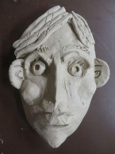Masque en argile