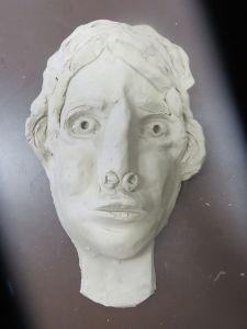 Portrait en céramique