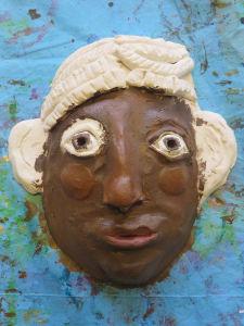Peinture acrylique sur modelage en argile
