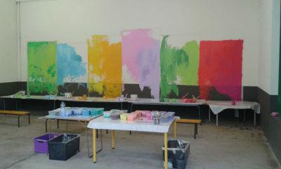 Peinture des fonds colorés