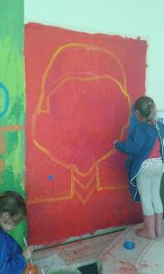 Peindre un grand portrait sur le mur