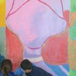 Les enfants de GS/CP peignent les grands portraits