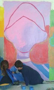 Peindre le vêtement coloré