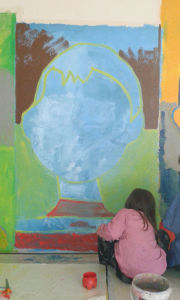 Le mur comme une grande toile peinte