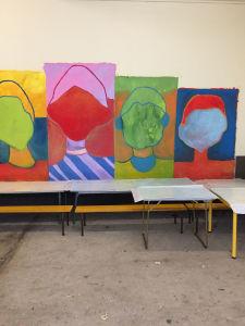 Extrait de la fresque de l'école d'Odenas