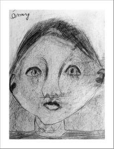 Portrait d'enfant dessiné