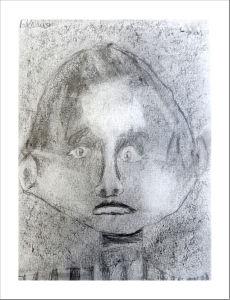 Autoportrait en classe de CE2/CM1