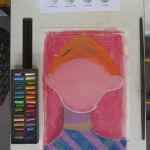 Portrait au pastel sans visage