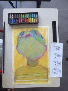 Cheveux multicolors