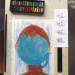 Portrait au pastel sans le visage