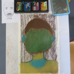 Portrait sans visage au pastel