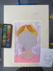 Dessiner un portrait à l'école