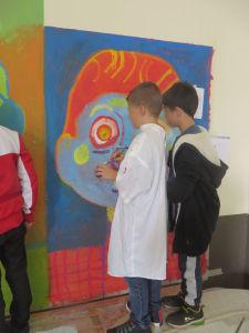 Mur peint par les enfants