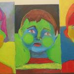 Le visage terminé par les enfants