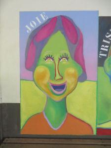 Portrait joyeux en couleur