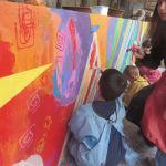 Mur peint dans une école maternelle