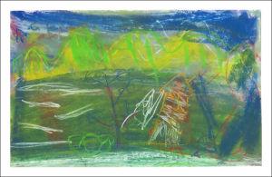 Le paysage avec les enfants de maternelle